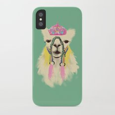 Llama drama queen Slim Case iPhone X