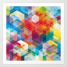 Cuben Curved #5 Art Print
