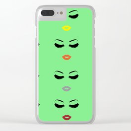 Lips for the Week Clear iPhone Case
