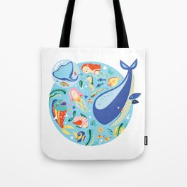 Under The Sea with a Mermaid Tote Bag