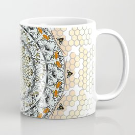 Overlapping Bee Mandala (Color) Coffee Mug