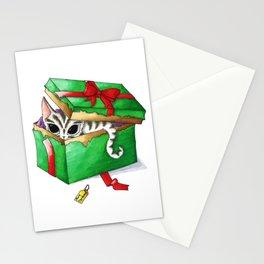 Kitten present box Stationery Cards