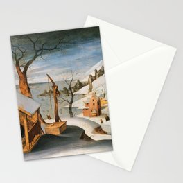 Abel Grimmer, Flemish, active 1592-1619 Winter Landscape with the Angel Appearing to Saint Jos Stationery Cards