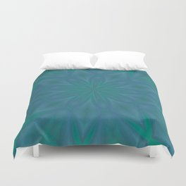 Aurora In Teal Blue and Green Duvet Cover
