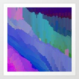 Abstact waterfall Art Print