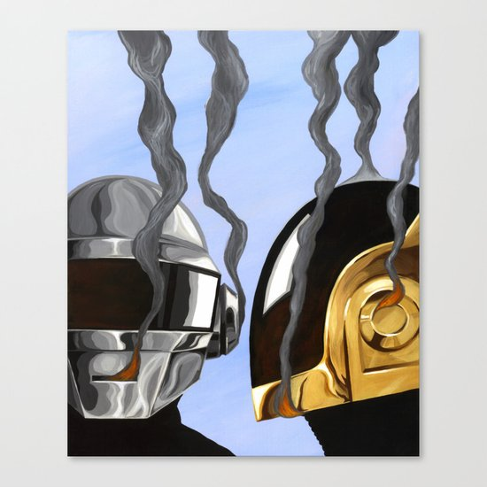 Daft Punk Deux Canvas Print