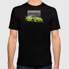 2016 Porsche 911 GT3 RS in Birch Green MEDIUM Black Mens Fitted Tee
