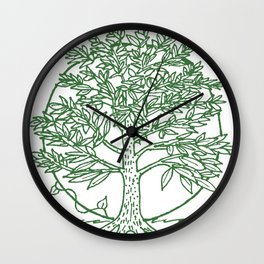 Forest Lover's Tree Wall Clock