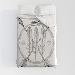 Ouroboros Logos Duvet Cover
