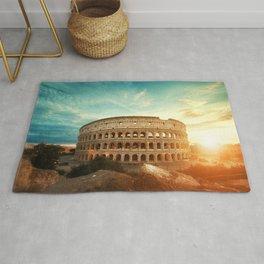 Colosseum Amphitheatre Rome Italy Rug