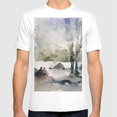 Snowy Day Mens Fitted Tee MEDIUM White