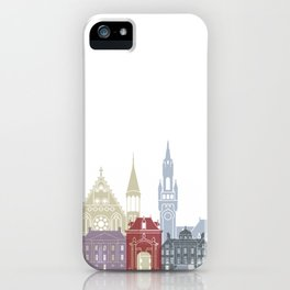 The Hague skyline poster iPhone Case