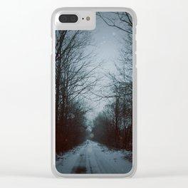 Dark Winter Clear iPhone Case
