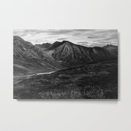 Hatcher Pass Without Color Metal Print