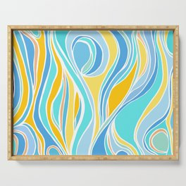 Beach Day Abstract Serving Tray