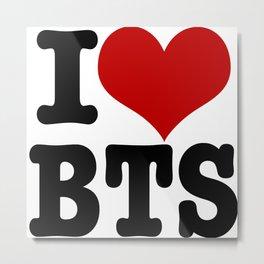 I Love BTS Rectangle Metal Print