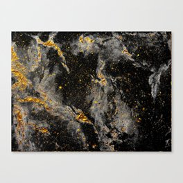 Galaxy (black gold) Canvas Print