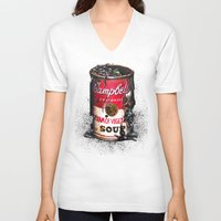 vegetable V-neck T-shirts featuring Cream of Vegetable by Daryll Peirce