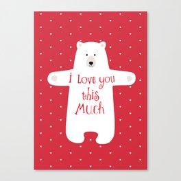 Bear hugs Canvas Print