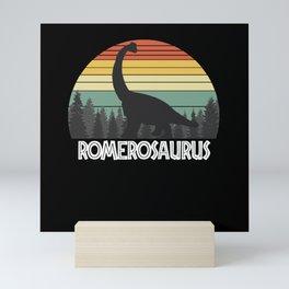 ROMEROSAURUS ROMERO SAURUS ROMERO DINOSAUR Mini Art Print