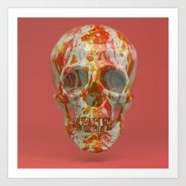 Red Candy Skull Art Print