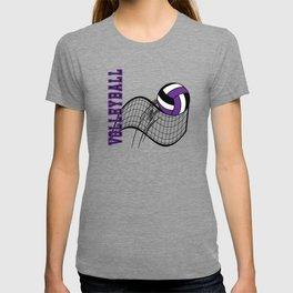 Volleyball Sport Game - Net - Purple T-shirt