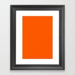 Willpower orange Framed Art Print