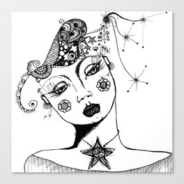 You Have No Clue What Is In My Head GRRL Canvas Print