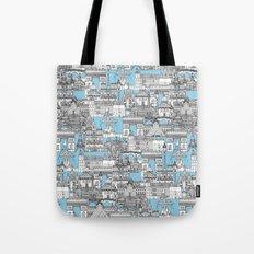 Paris toile cornflower blue Tote Bag