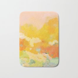 abstract spring sun Bath Mat