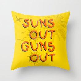 Guns Out Throw Pillow
