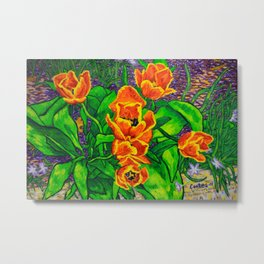 View of Tulips Metal Print