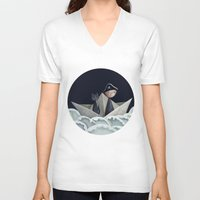 pirate ship V-neck T-shirts featuring The Pirate Ship by Fizzyjinks
