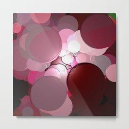 Merlot Texture Bubble Pattern Metal Print