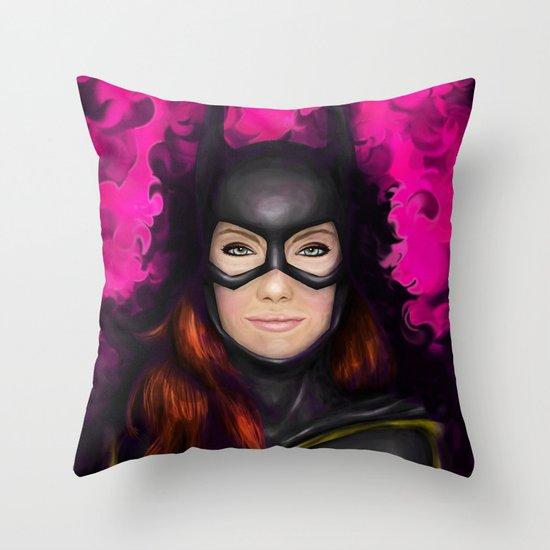 Bat of Stone Throw Pillow