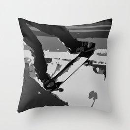 Half Pipe Skateboarding Throw Pillow