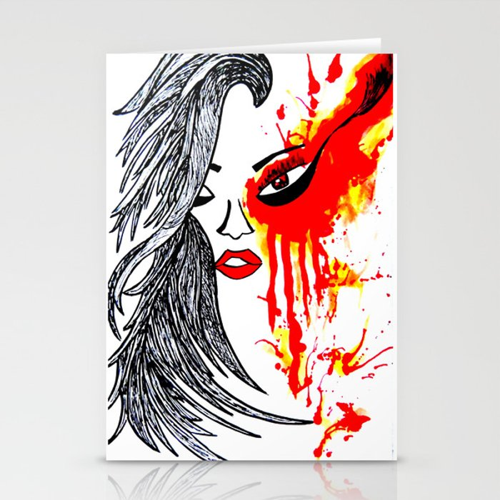 On Fire. Stationery Cards