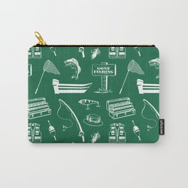 Gone Fishing // Jewel Green Carry-All Pouch