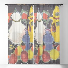 "Alexej von Jawlensky ""Still Life with Yellow Coffee Pot and White Tea Pot"" 1908 Sheer Curtain"