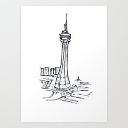 Macau Tower Art Print