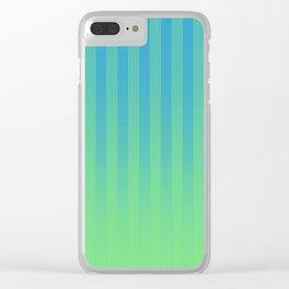 Gradient Stripes Pattern bg Clear iPhone Case