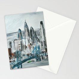 Philadelphia, Pennsylvania, USA Fine Art Acrylic Painting Stationery Cards