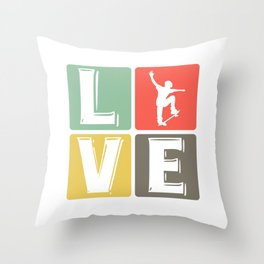 Skateboarding Love Skateboarder Skater Throw Pillow