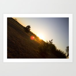 Nebraska Sunset Art Print