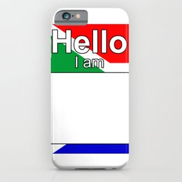 Hello I am from South Africa iPhone Case