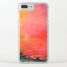 Flamingo Bay Clear iPhone Case