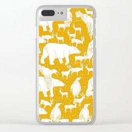 Polar gathering (orange juice) Clear iPhone Case