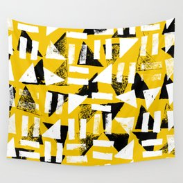 Signs - Black & Yellow Wall Tapestry