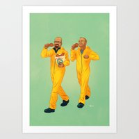 breaking bad Art Prints featuring Breaking Bad by Dave Collinson