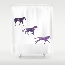Universe in Running Horse Shower Curtain